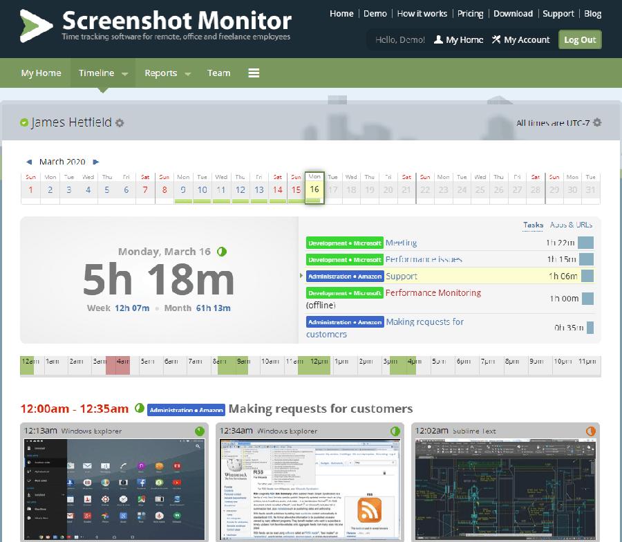 Система Screenshot monitor