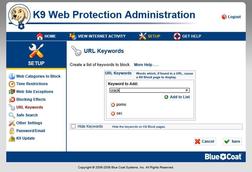 программа K9 Web Protection