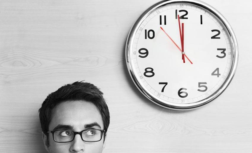 определения времени сотрудников